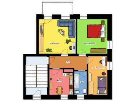 Energetisch sanierte 3-Raum-Wohnung mit Balkon