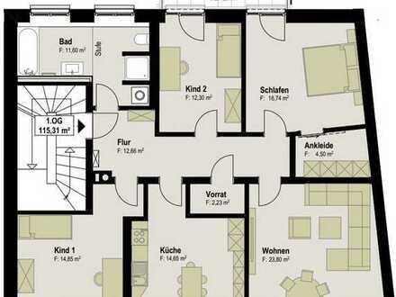 Citynahes wohnen für Familien in moderner 4 Raumwohnung. Erstbezug