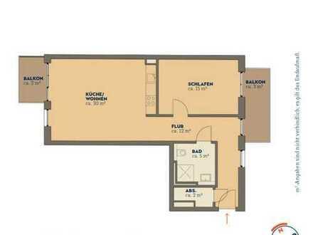 Schwellenlos in die Traumwohnung - 2 Zimmer, Küche, Bad