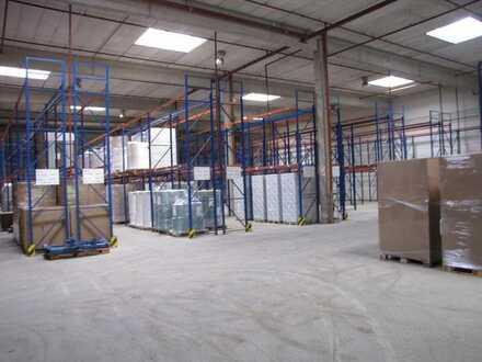 Lager- und Produktionshallen mit viel Freifläche im Industriegebiet