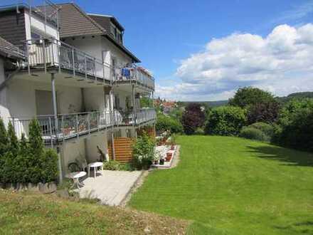 Das Besondere! 3 Zimmer-Wohnung mit EBK, Sonnenterrasse & Fernsicht in Bad Schwalbach