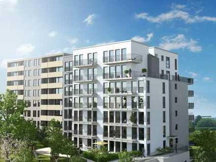 3 Zimmer-Neubau-Erstbezug mit 50 qm Dachterrasse zur Sonnenseite!!