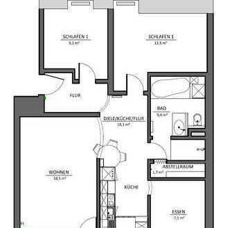 Modernisierte 3,5-Zimmer-Maisonette-Wohnung mit Balkon und Einbauküche in Neumarkt in der Oberpfalz