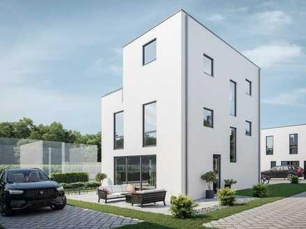 Modernes Einfamilienhaus mit lichtdurchfluteten Lebensräumen auf allen Etagen
