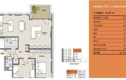 *Neubau* 3-Zimmer Wohnung zu verkaufen! WE 34