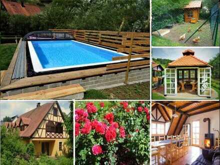 Bio Bauernhof, stilvolle, modernisierte 7-Zimmer-DG-Wohnung mit Balkon und EBK Fränkische Schweiz