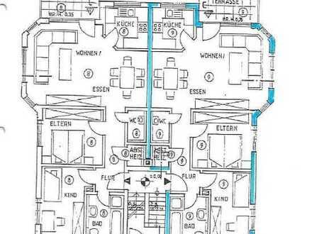 Große 3,5 ZKB Erdgeschoßwohnung mit großem Garten und großer Terrasse. Wohn- u. Nutzfl. ca. 90,41 m²