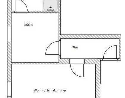kleine, aber feine 1-Raum-Wohnung