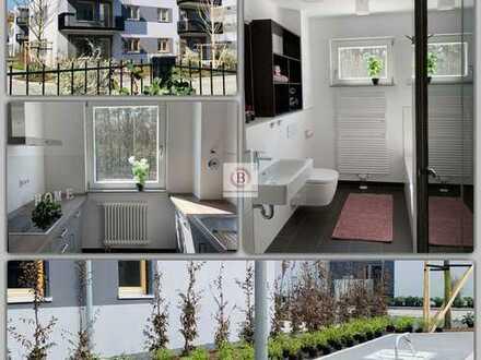 Erstbezug: Neu-Schick-Ruhig-Grün-große Terrasse-Wohnen in feiner Stadtvilla Wohnpark Grünau