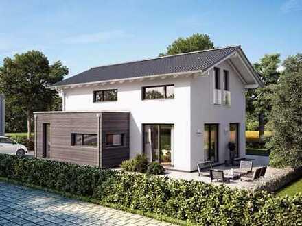 Modernes Satteldach Haus mit hohen Kniestock