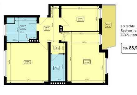 Schöne 3 Zimmer Wohung in der Südstadt