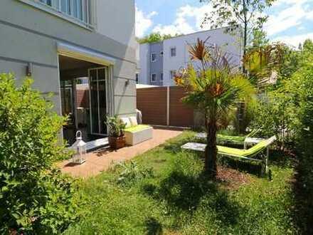 5 Zim.-Garten-Wohnung (4 Zim.+1 Zim.- Studio/Praxis) * Wohlfühloase mit Süd-West-Terrasse *