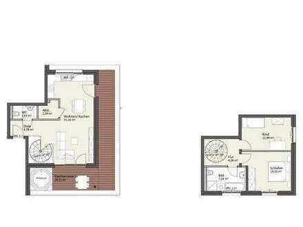 Penthaus-Maisonette mit Dachterrasse & Lift - Wohnung B5