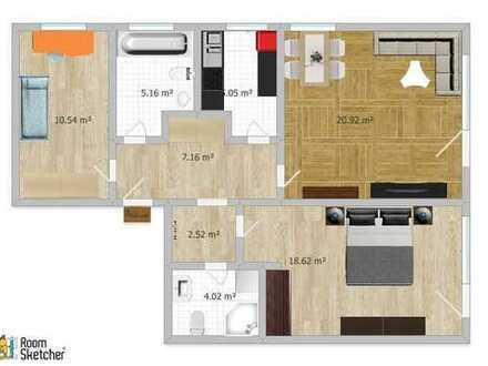 Sofort verfügbare 3 Zimmer ETW, ca. 73qm mit großem Südbalkon