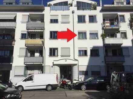 Zentral gelegene 2 Zimmer Wohnung mit Balkon und TG nähe U3/U6 Implerstr., Isarnähe