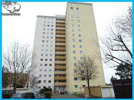 Mainaschaff: gepflegte 2 Zimmer Wohnung mit grandioser Aussicht in sehr sauberem Hochhaus