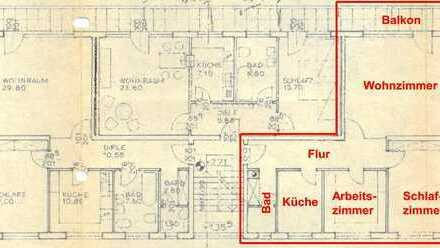 Möblierte Drei-Zimmer-Wohnung in Gröbenzell, Kreis Fürstenfeldbruck