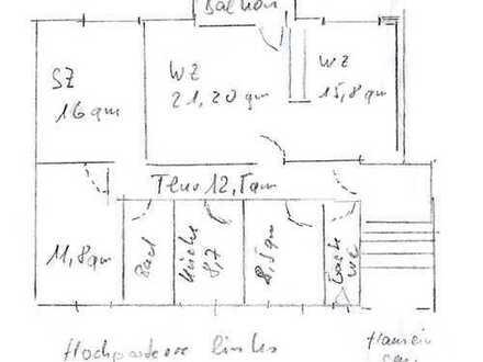 Vollständig renovierte 5-Raum-Hochparterre-Wohnung mit Balkon und Einbauküche in Flensburg