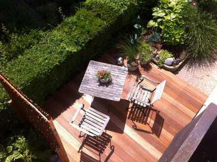 Schöne möbil. 2-Zi.-Ferienwohnung in Immenstaad / Bodensee mit Balkon, See- und Bergsicht an Einzelp
