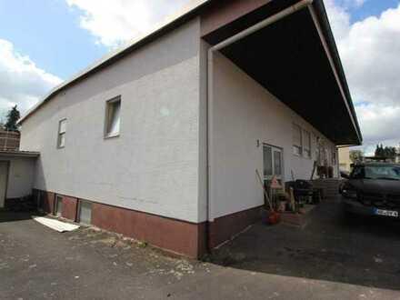 Gewerbehalle + Garage in guter Lage in Westerngrund OT Huckelheim