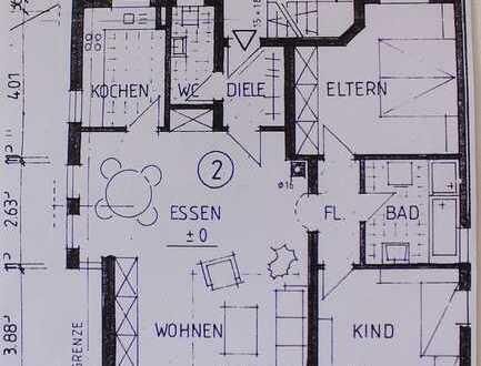 Gepflegte Hochparterre-Wohnung mit drei Zimmern und Balkon in Nattheim OT