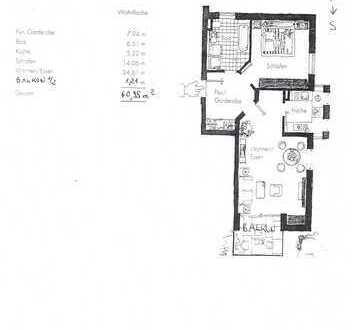 Sofort bezugsfertig: Gepflegte 2-Zimmer-Wohnung mit Süd-Balkon in Königsbrunn