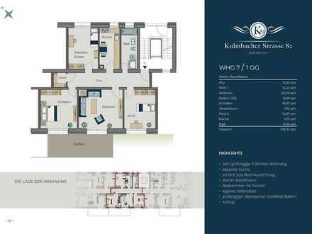 4-Zimmer-Wohnung mit großzügigem Balkon/1. Stock