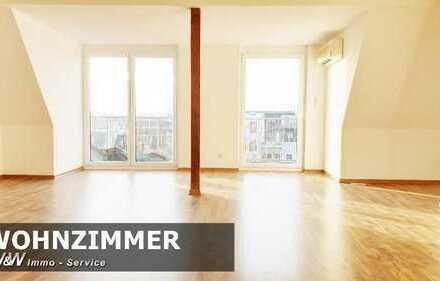 Dachgeschoss, Südbalkon, Klimaanlage, Einbauküche
