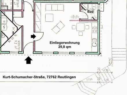 Moderne, möblierte 1 Zimmer Wohnung ca. 30 qm in der Kurt-Schumacherstr. Reutlingen Nähe FH/Bosch