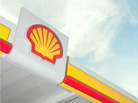 gepflegte Service Halle an Shell-Tankstelle zu vermieten