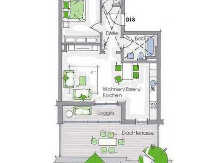 2-Zimmer-Penthaus mit Loggia und Dachterasse