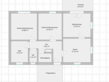 Sanierte vier Zimmer EG-Wohnung mit Garten