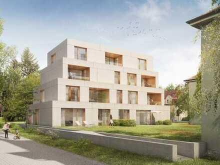 Besichtigung So. von 11 - 12 h. Loftige 4 Zimmer-Neubau-Wohnung mit Garten in bester Innenstadtlage.