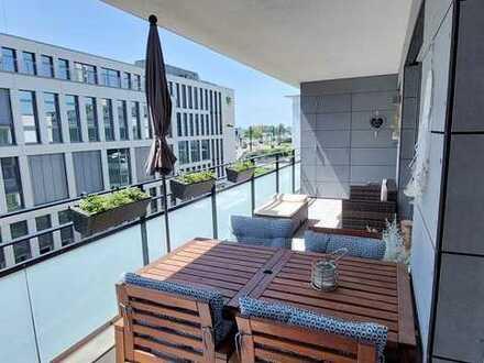 Neuwertige barrierefreie Zwei-Zimmer-Wohnung mit großem Balkon und zentraler Lage in Offenburg