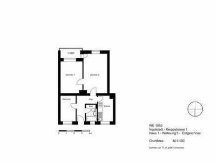 Für junge Paare oder Singles : kompakte 2,5 Zimmer mit Loggia und Tageslichtbad