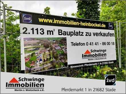 SCHWINGE IMMOBILIEN Stade: Bauplatz zu verkaufen.