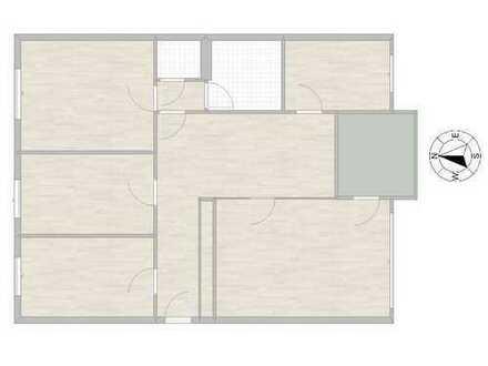Gepflegte 4,5-Zimmer-Wohnung mit Süd-Balkon in ruhiger Lage