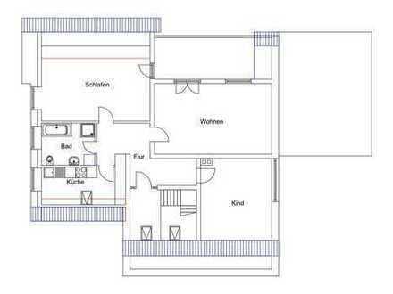 gepflegte 3-Zimmer-DG-Wohnung mit Balkon in Viersen