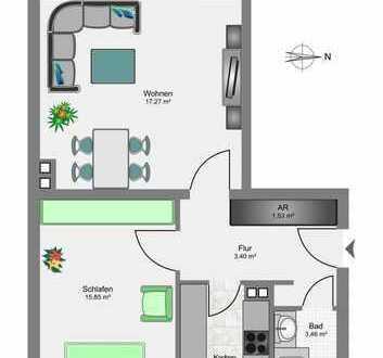 Vermietete 2-Raum Wohnung mit Balkon im Essener Nordviertel
