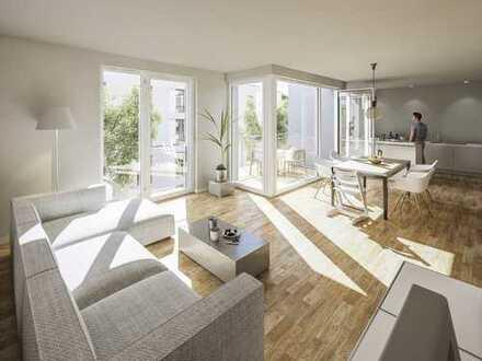 In exzellenter Lage: 3-Zi.-Balkonwohnung mit großem Wohn-/Ess-/Kochbereich und 2 Bädern