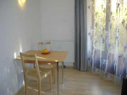 Möblierte 1,5-Zimmer-EG-Wohnung mit kleinem Garten und Einbauküche in Ingolstadt