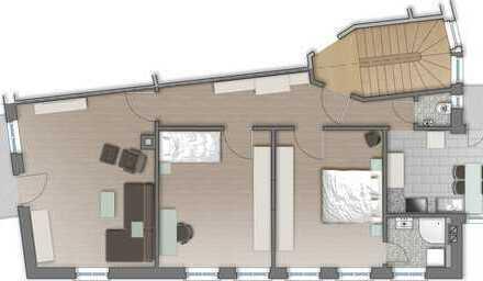 3-Zi-Whg im Kernerviertel mit 2 Balkonen und EBK