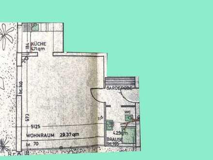 Geräumige, modernisierte 1-Zimmer-Erdgeschosswohnung zur Miete in Marbach am Neckar