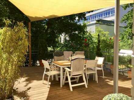 S-West: Stilvoll sanierte Altbauwohnung mit außergewöhnlicher Terrasse