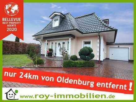 +++ Stadtvilla-Stil nahe Oldenburg, Kamin, Sauna, EBK inkl., DG ausgebaut, Sackgassen-Lage ! +++
