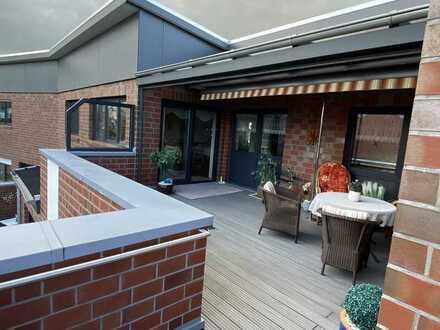 Barrierefreie neuwertige Luxus-Penthouse-Wohnung mit Dachterrasse in Nordenham-Zentrum
