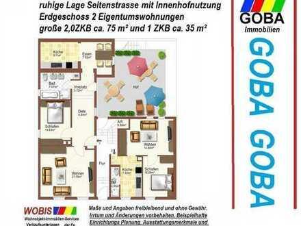 Oppau schöne ruhige Lage - sofort frei 2,0 ZKB 75 m² und 2,0 ZKB 35 m² 2 ETWs mit Hof