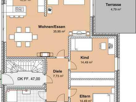 Exklusive, energiesparende Neubau - Erdgeschosswohnung nahe der Steverauen!