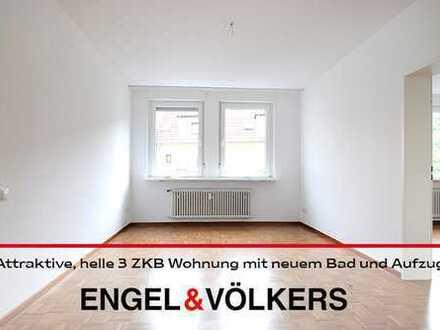 Attraktive, helle 3 ZKB Wohnung mit neuem Bad und Aufzug!