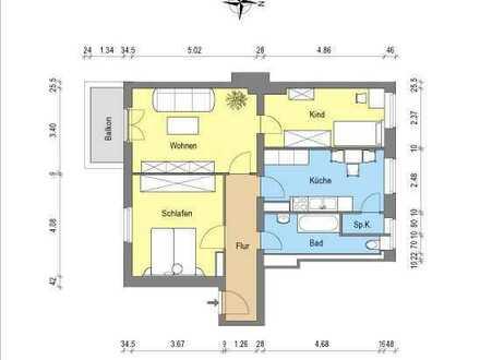 *3- Zimmerwohnung mit Balkon*